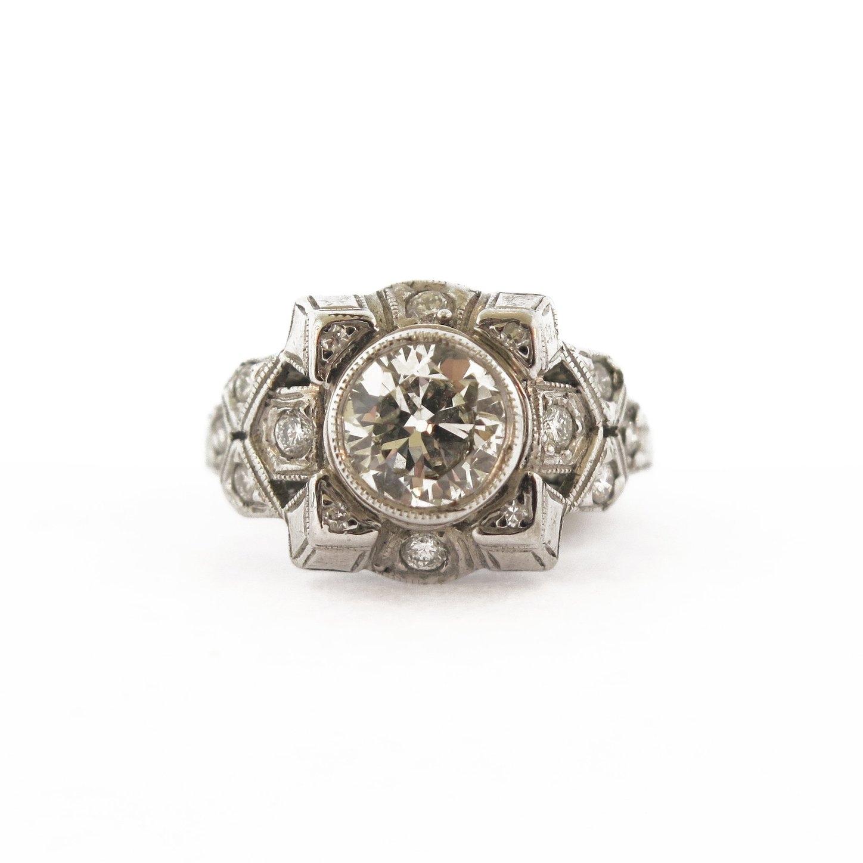 Art Deco 0.65 ct Diamond Ring