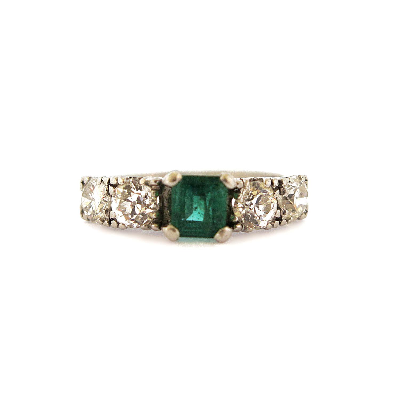 1950s Emerald & Diamond Ring