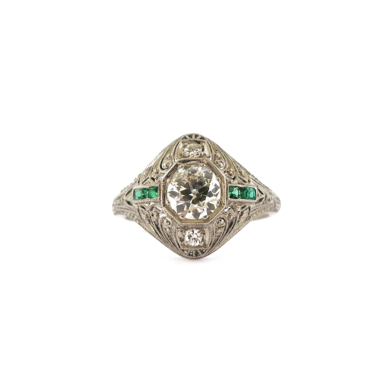 Edwardian Old Mine Cut Diamond Ring