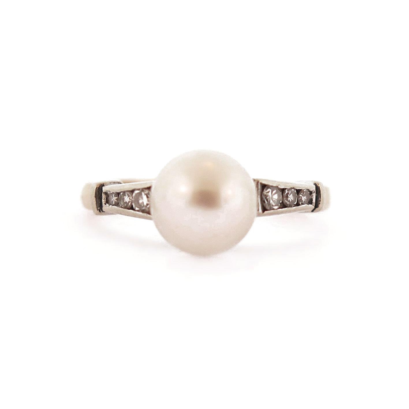 Victorian Pearl & Diamond Gold Ring
