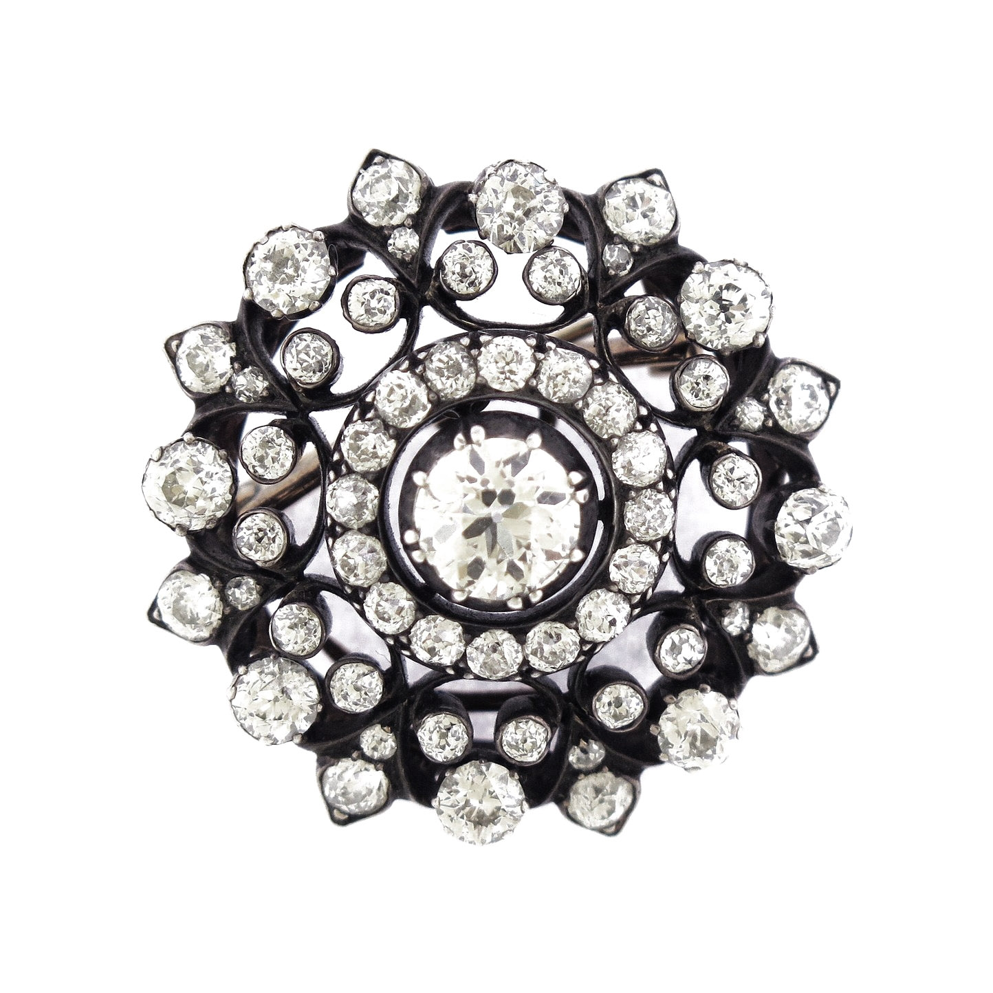 Pinwheel Diamond Brooch
