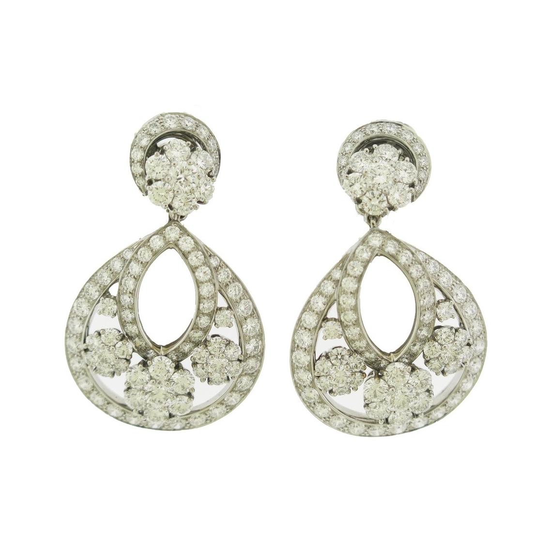 Van Cleef & Arpels Diamond Snowflake Earrings