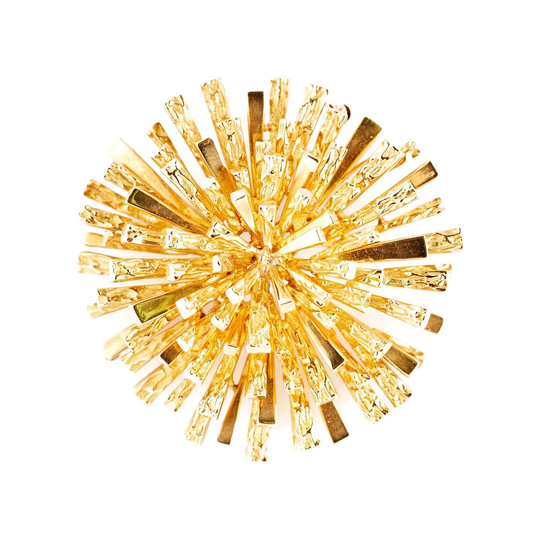 Tiffany Gold Starburst Brooch