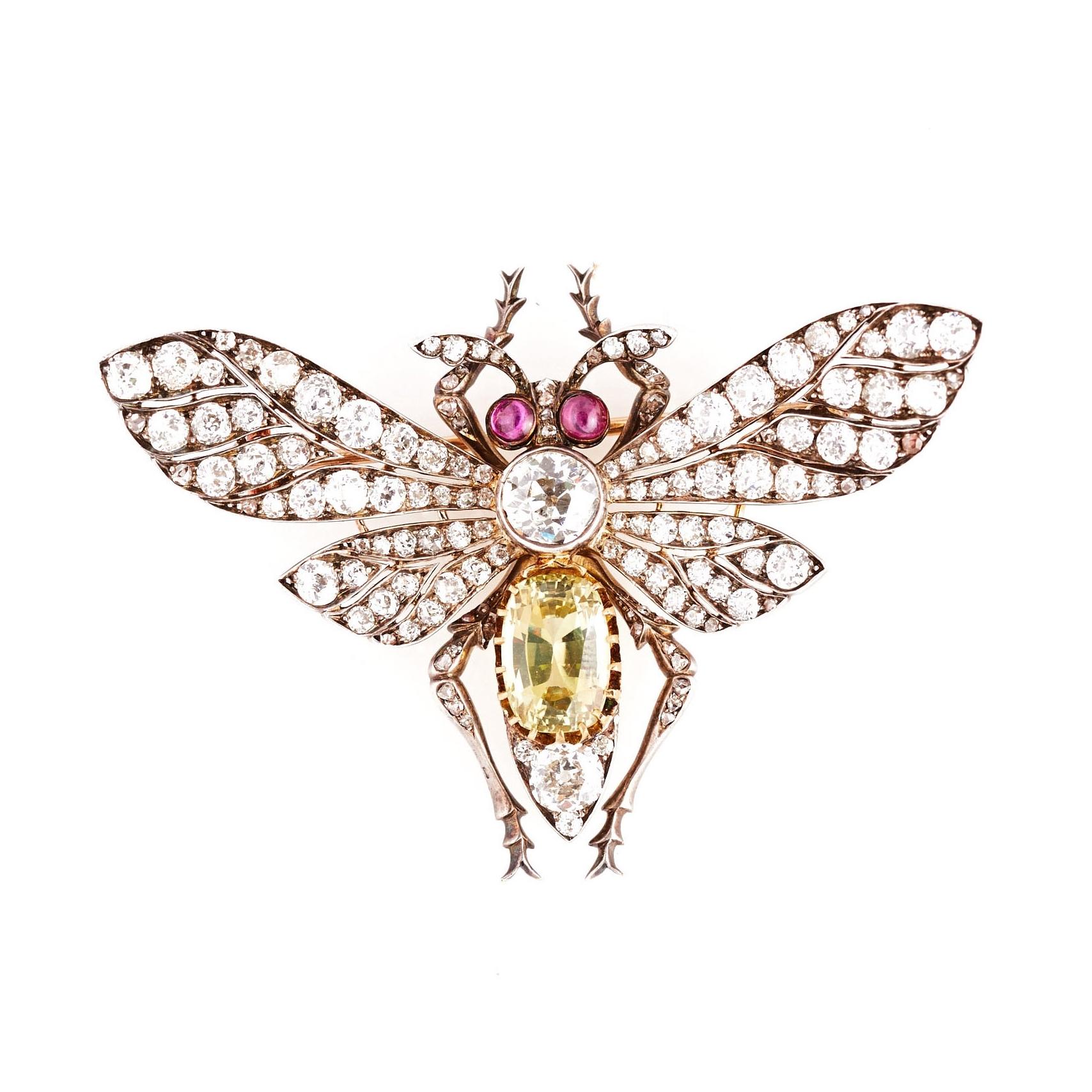 Victorian Moth Pin
