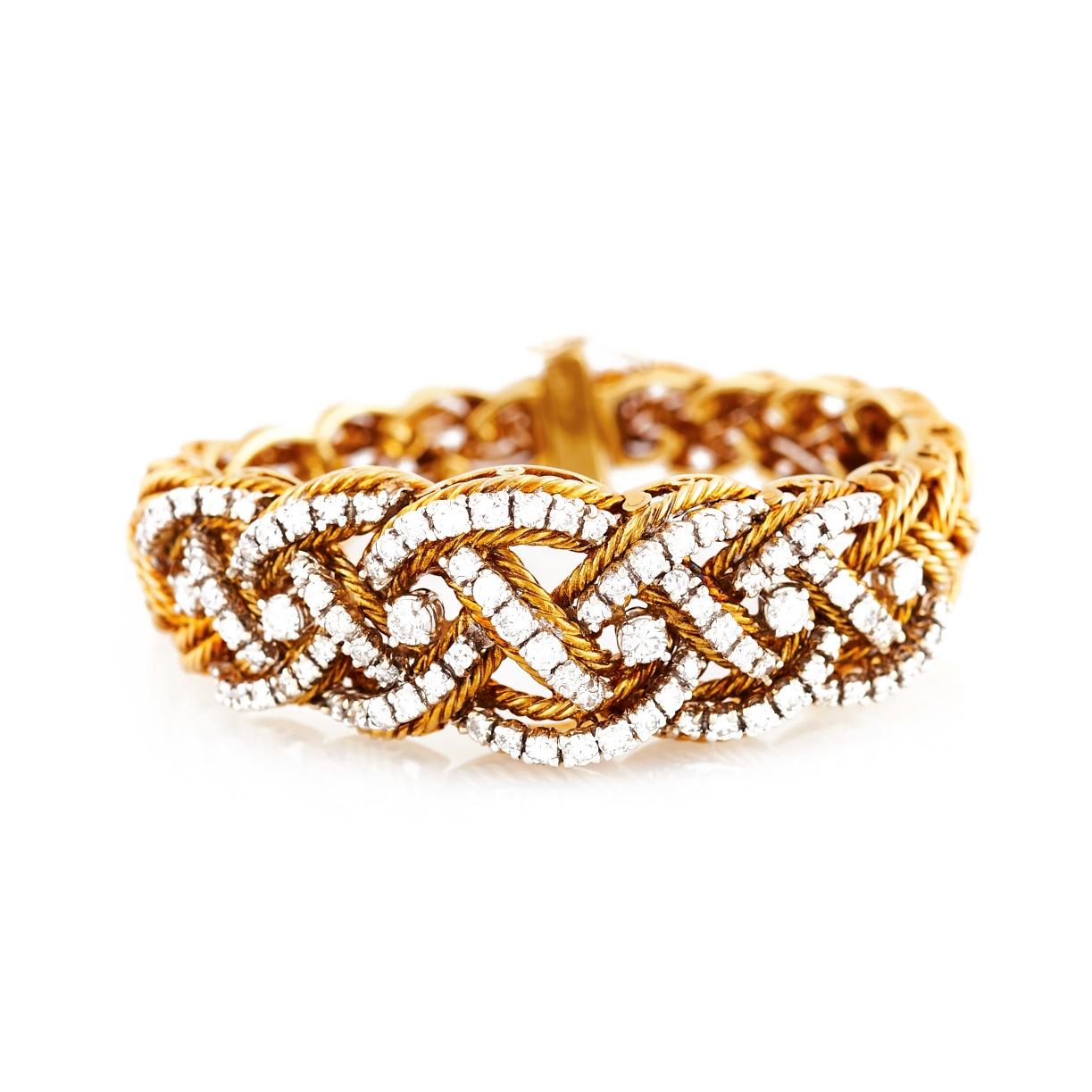 Hammerman Bros. Gold Diamond and Gold Bracelet