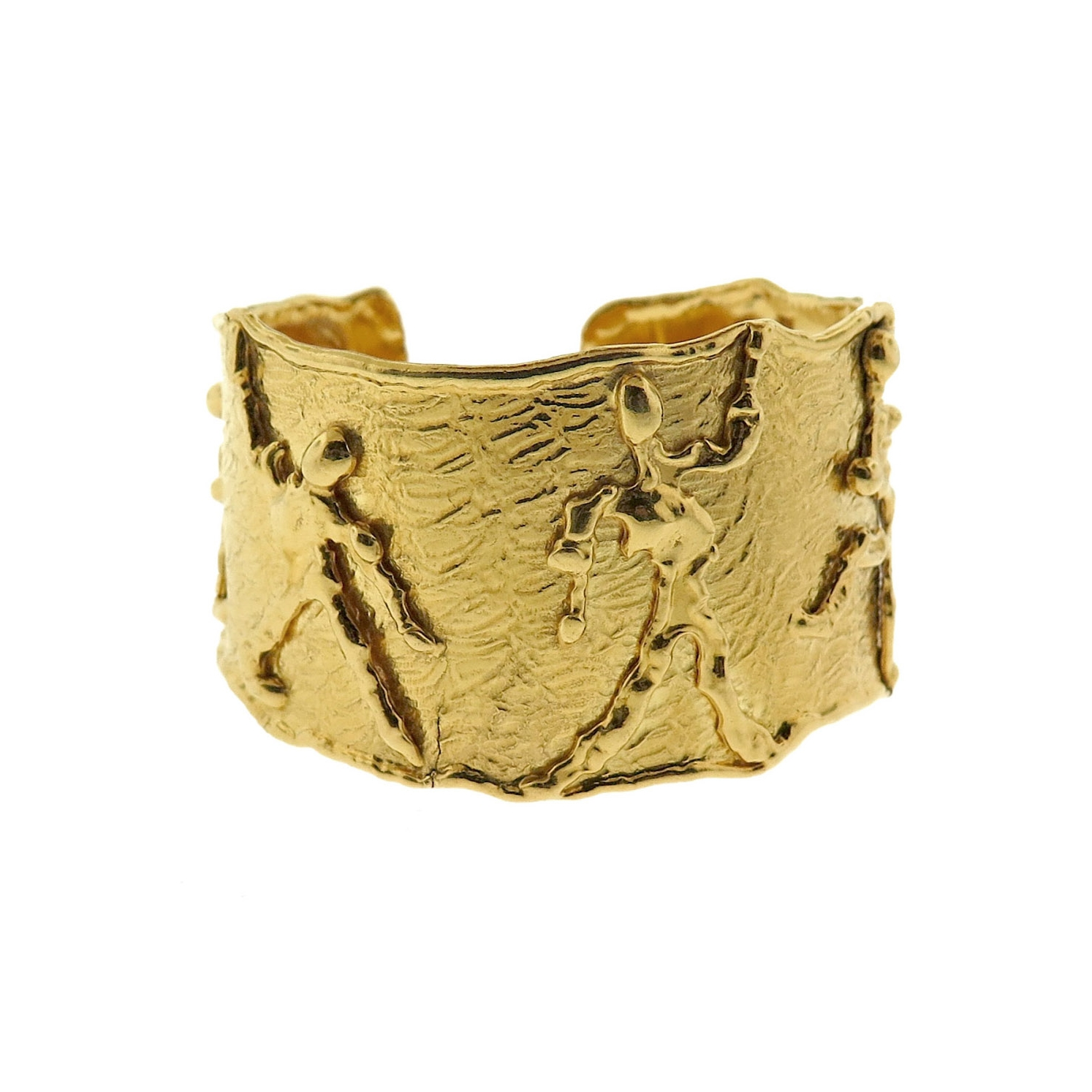 Jean Mahie Gold Cuff Bracelet - SOLD