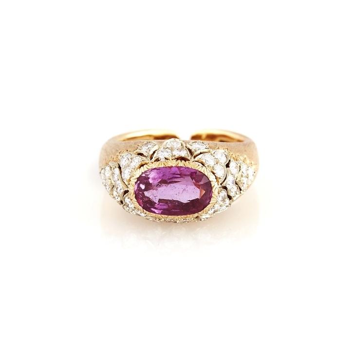 Buccellati Pink Sapphire Gold Ring