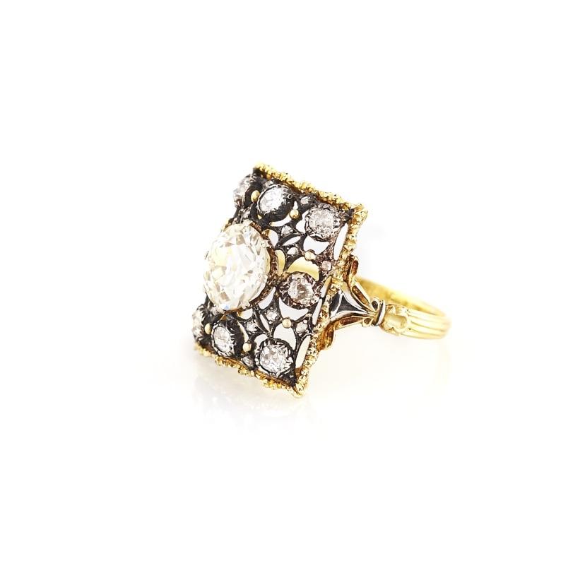 Buccellati Filigree Gold and Diamond Ring