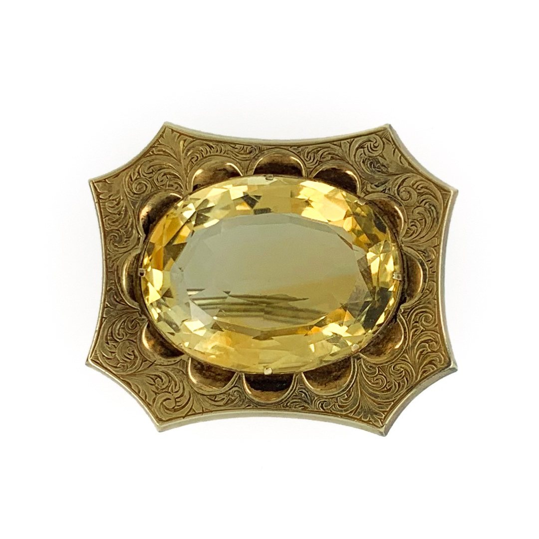 Engraved Frame Citrine