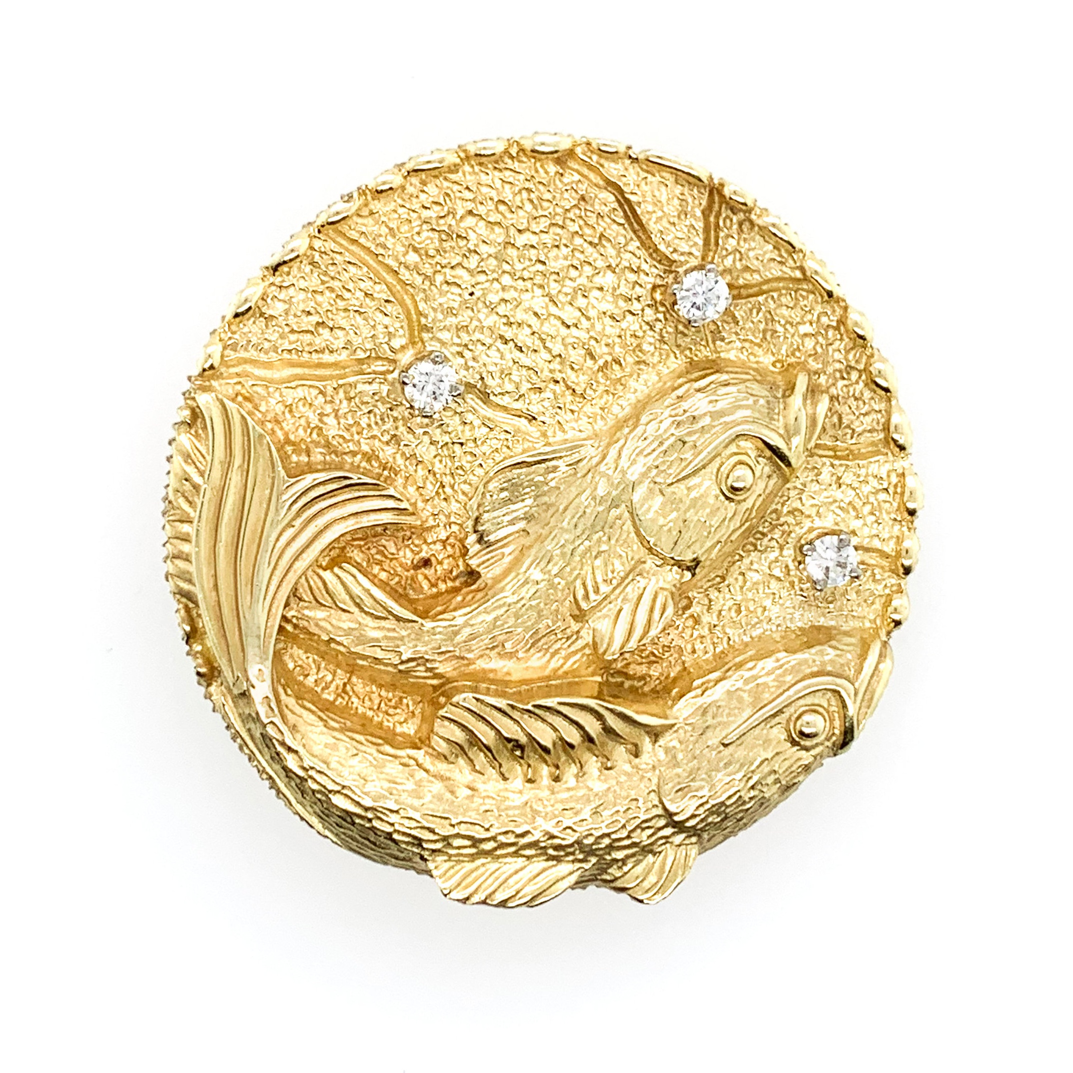 La Triomphe Gold Fish Brooch