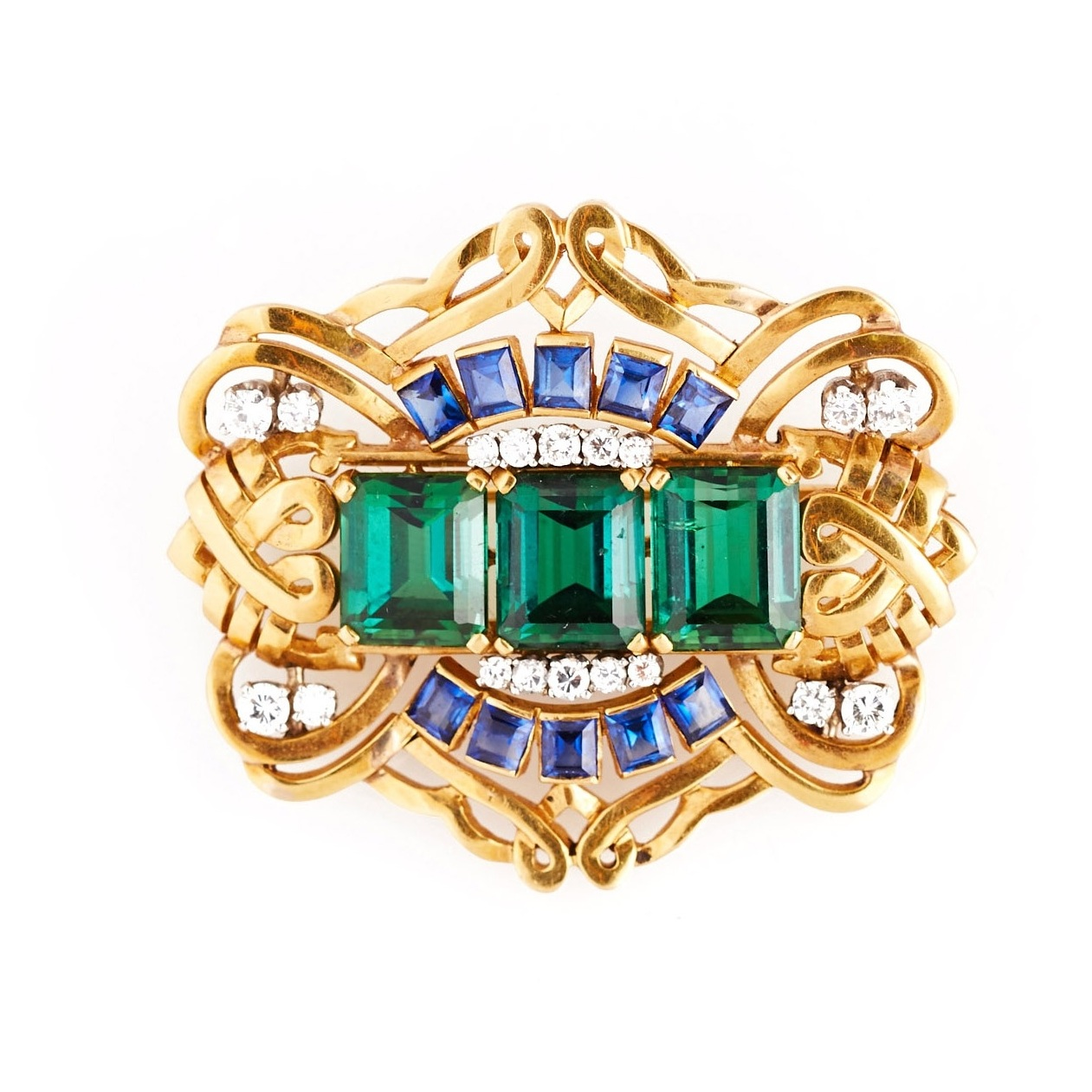 F.W. Lawrence Gem-Set Brooch