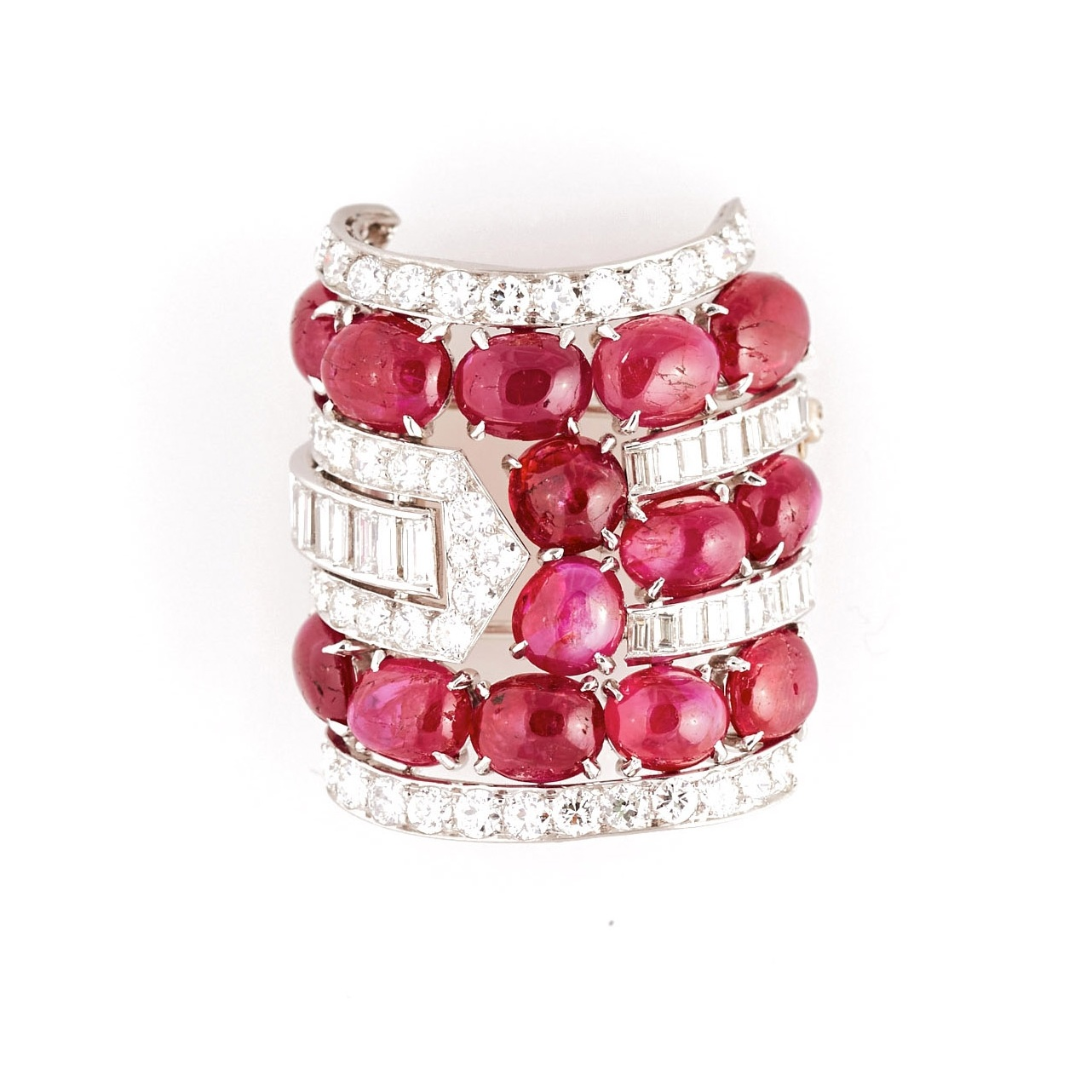 Art Deco Ruby, Diamond, & Platinum