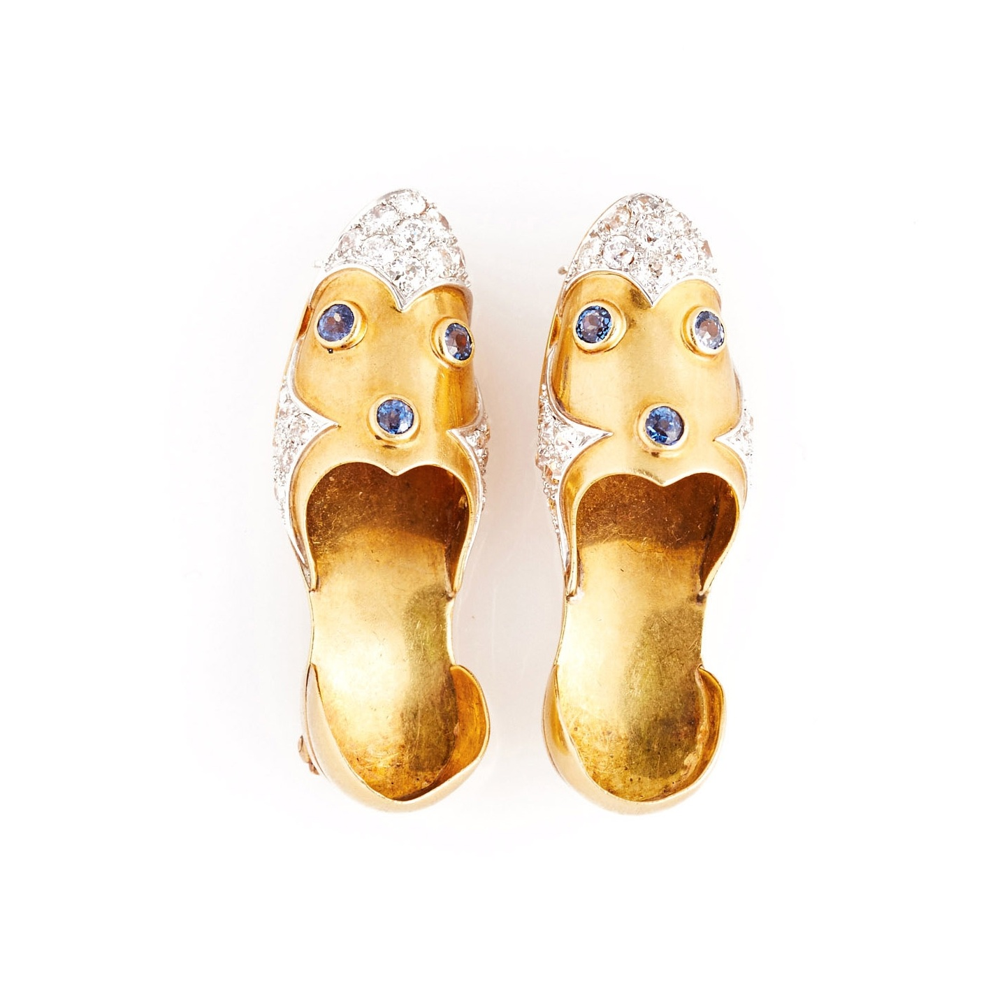 Paul Flato 18k Gem-Set Shoes