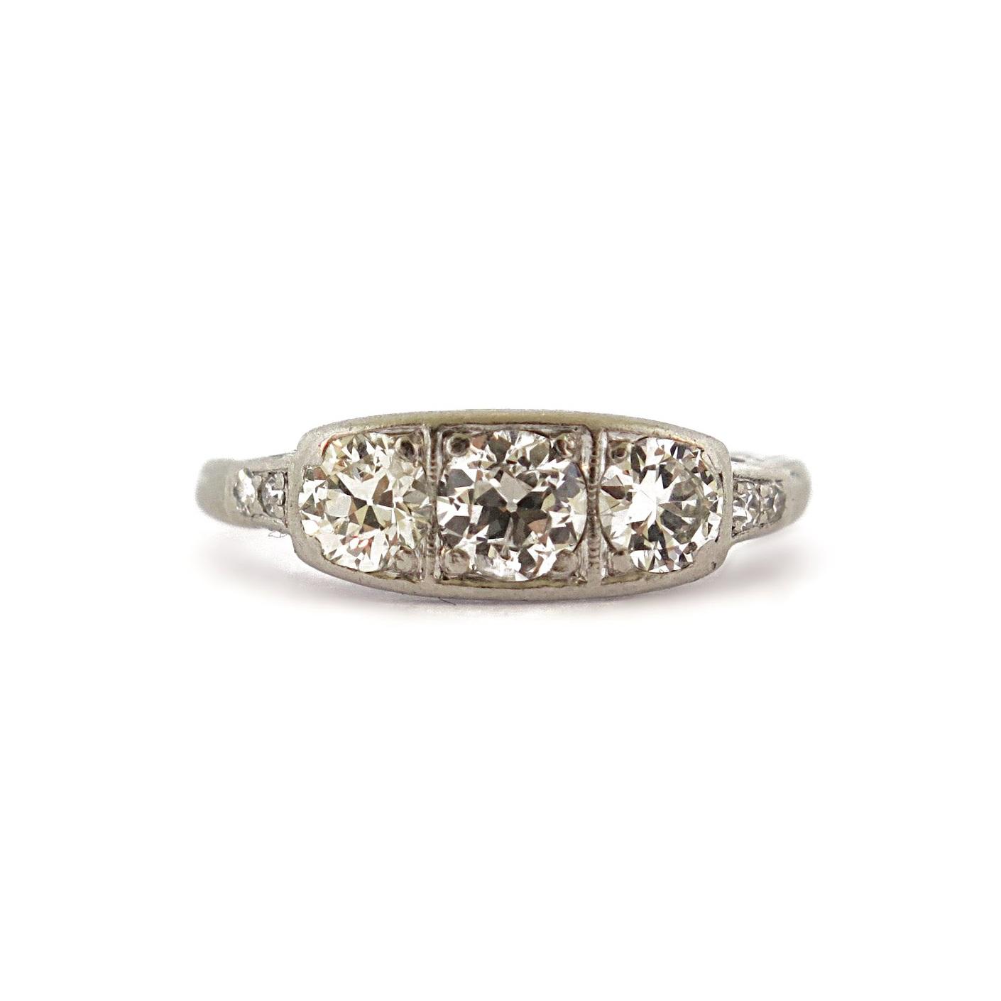 Edwardian Three Stone Diamond Ring