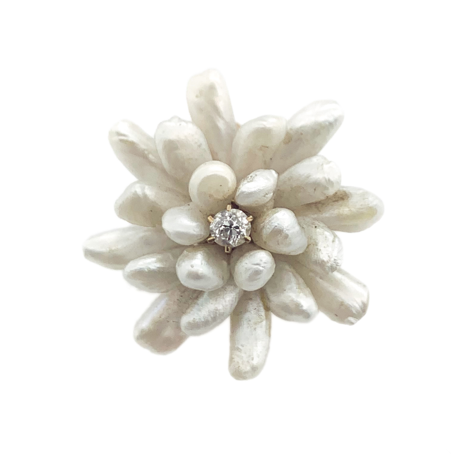 Mississippi Pearl Flower Brooch