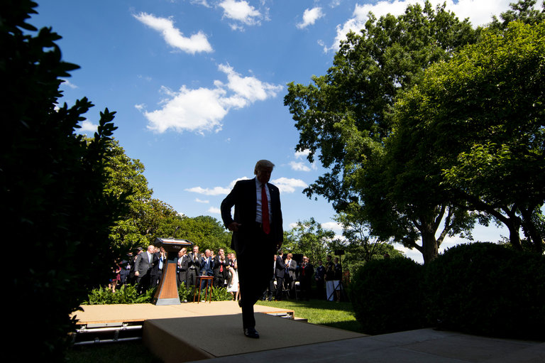 President Trump at the White House on Thursday.Credit: Doug Mills/The New York Times