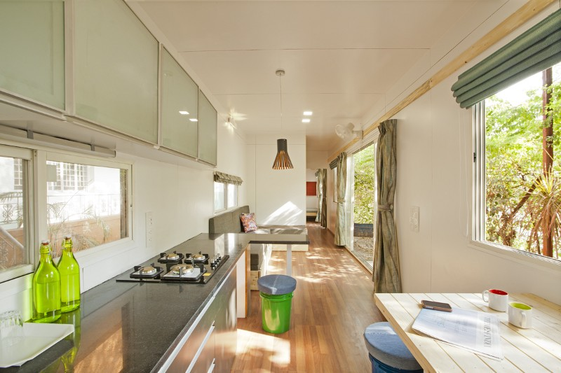 The interior of the container farmhouse