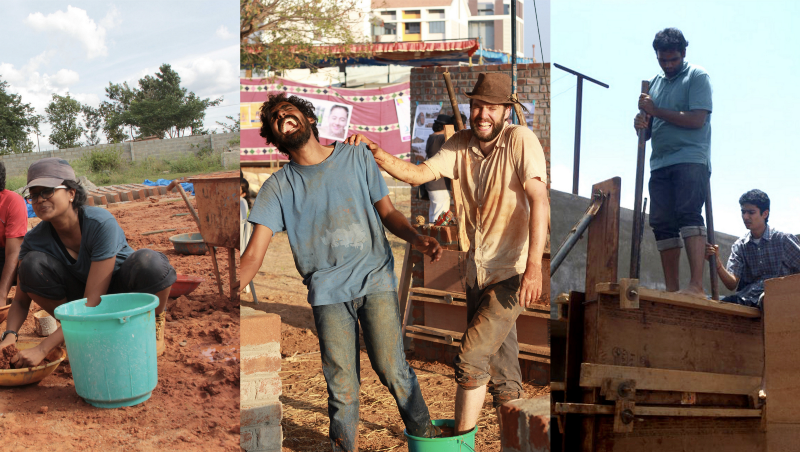 Members of the Made in Earth team on site