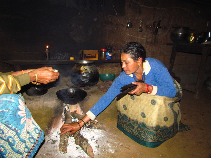 Janaki prepares a meal with foraged food