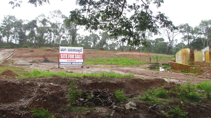 Sites for sale on deforested land outside Brahmagiri Wildlife Sanctuary