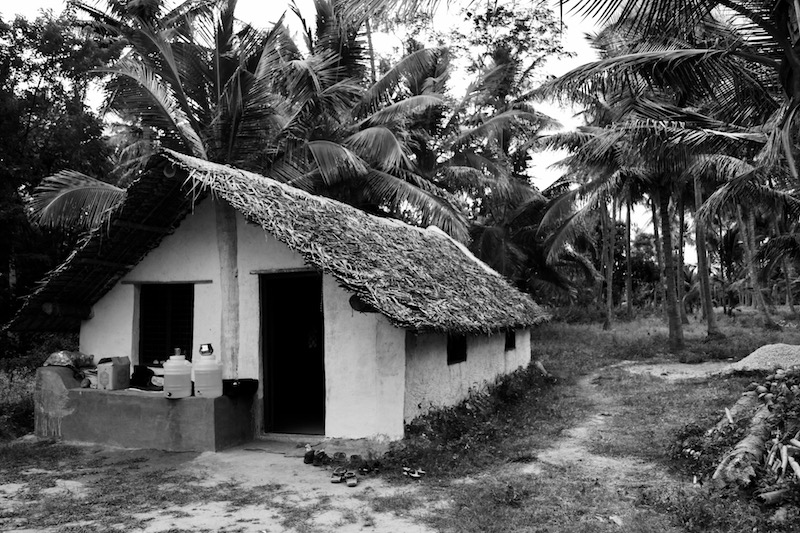 The mud hut at Devara Kaadu. Credit: Rishi Mazumdar