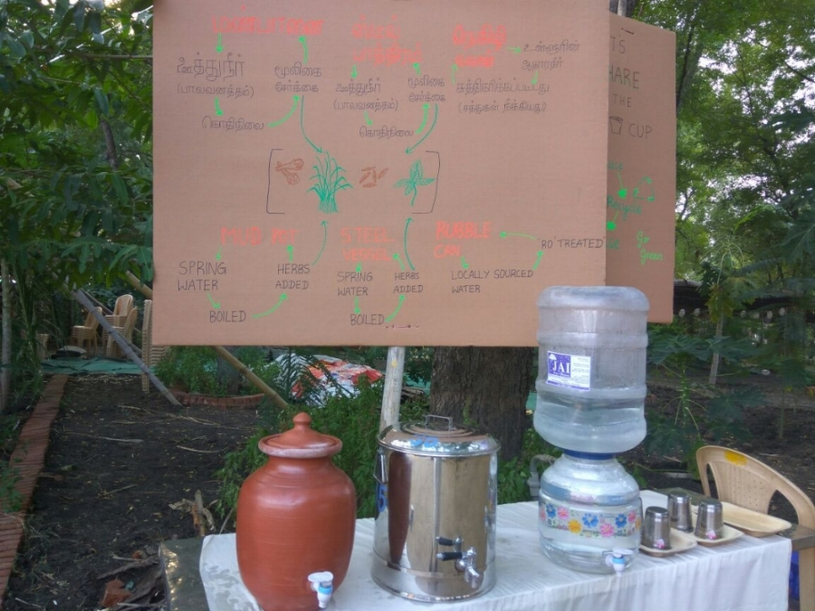 The drinking water station