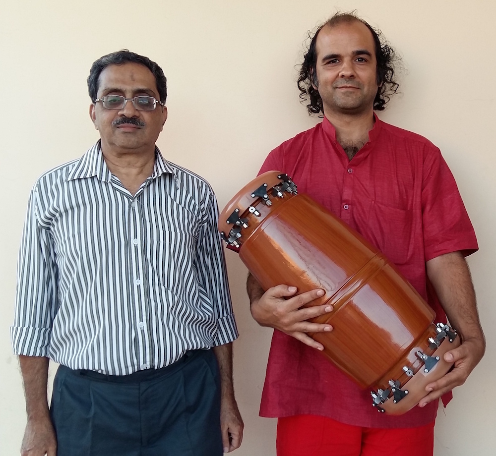 Dr. Varadarangan (left) with the author