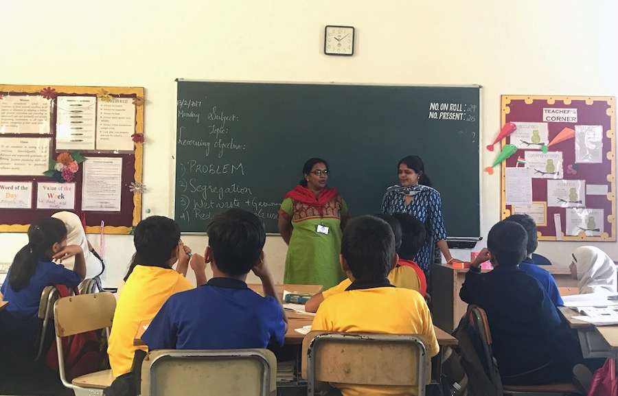 Seema and Padma in a session