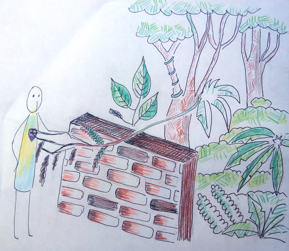 The Wall Between. Illustration: Devika Bedi