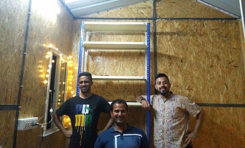 From left: Marvin Diaz, Sampath Reddy, Rajat Kukreja