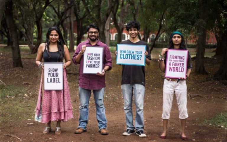 Fairtrade India's  'Show Your Label' campaign aimed at getting consumers to question where, how and by whom their garments are made Image: Fairtrade India
