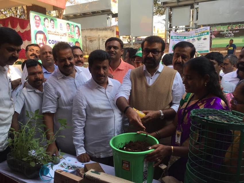 MLA NA Haris tries his hand at composting Image: Stonesoup/ Facebook