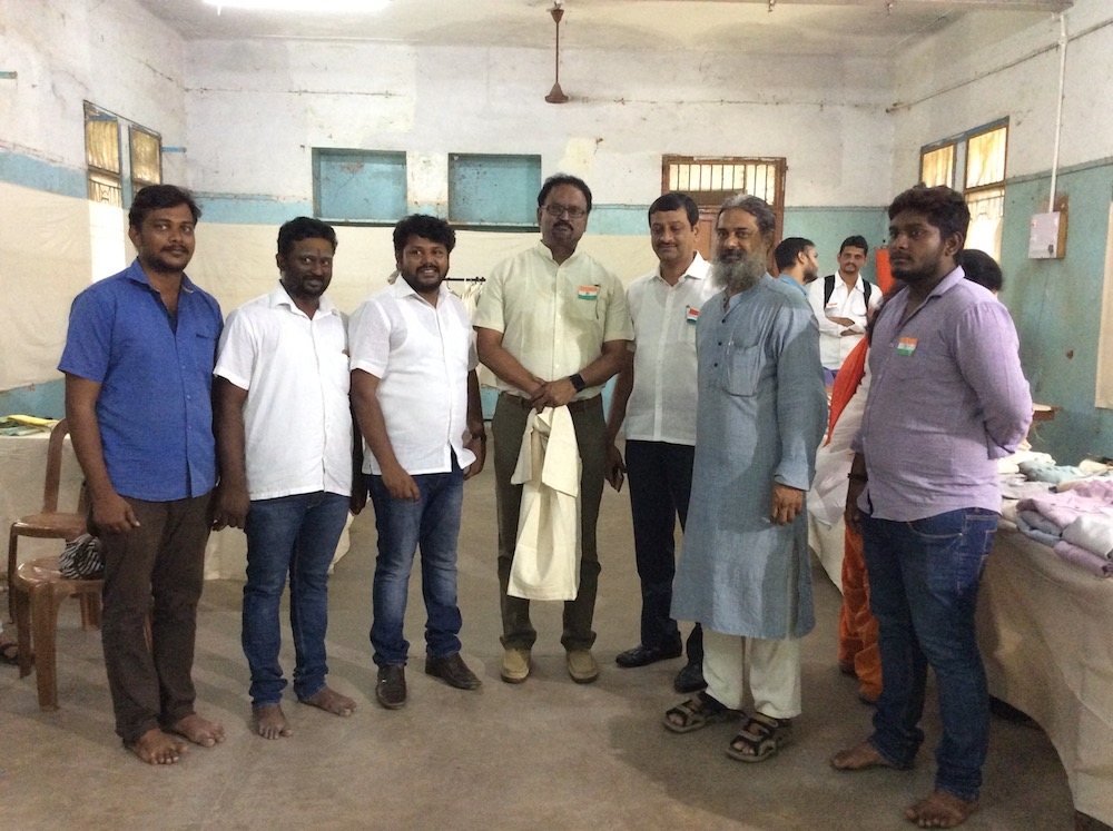 Ananthoo (2nd from right) and team Image: Author