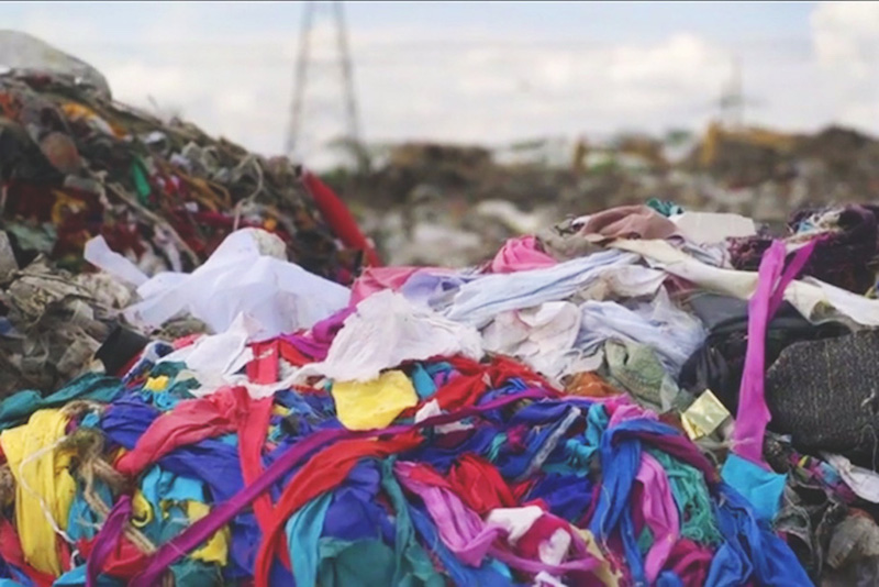 Textiles aren't biodegradable, which means they sit in landfills for at least 200 years, sending toxic chemicals into the air and soil.  Source