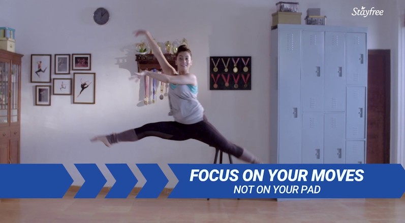 An ad from 2017 for ultra-thin pads. Source: YouTube screengrab