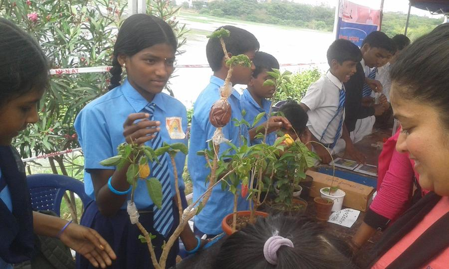Agastya students at an ecology fair. Image: Facebook/ Agastya International Foundation