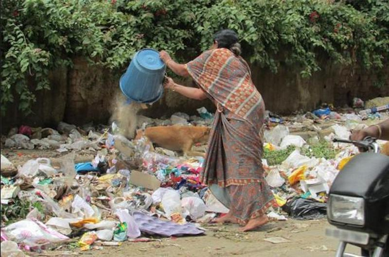 Feeding the waste pile  Source