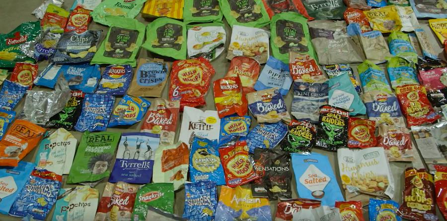 60% of Webb's total waste was food packaging. Image:  YouTube screengrab