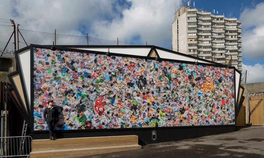 Daniel Webb with his installation Everyday Plastic.Image:  Everyday Plastic