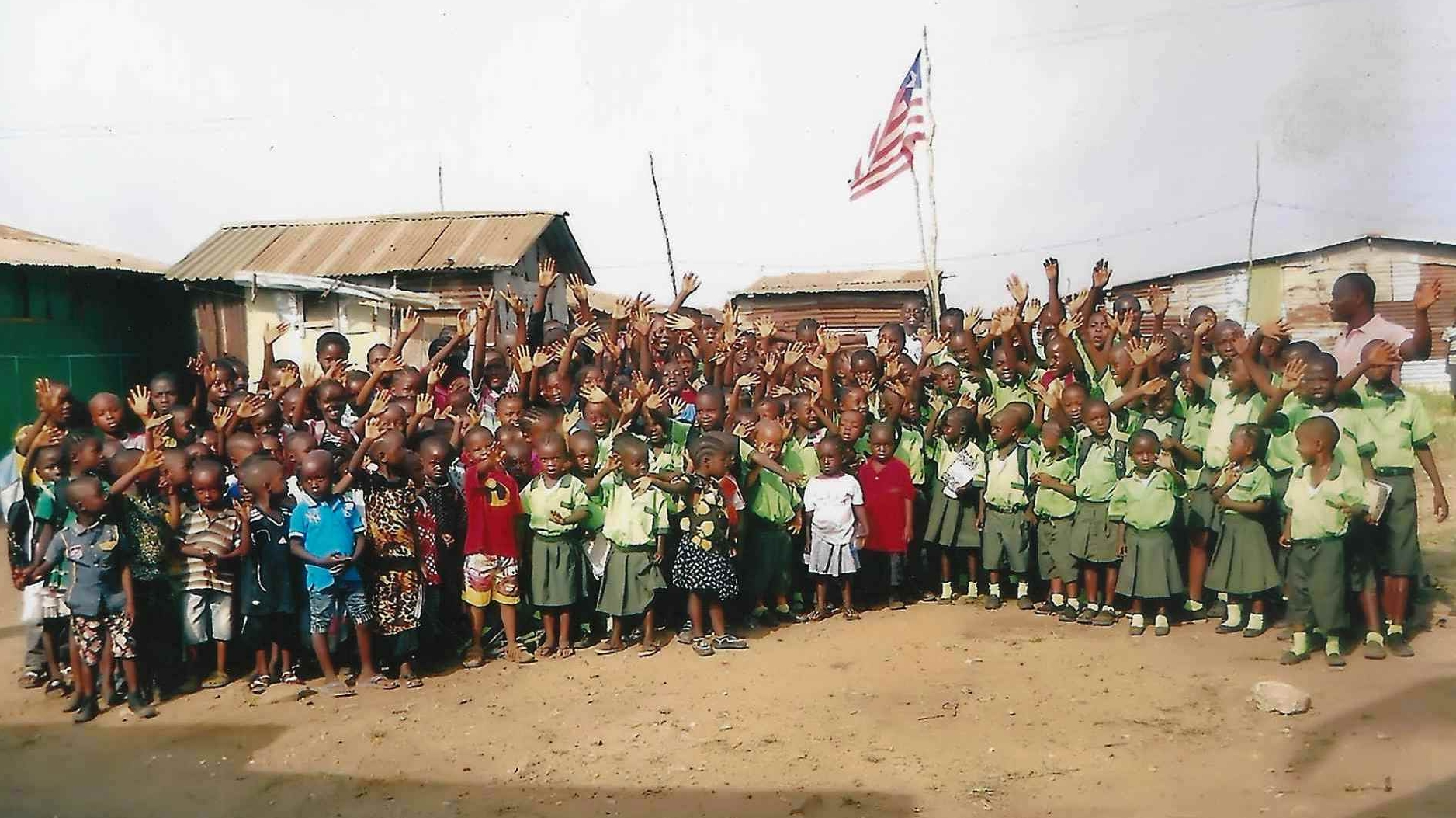 The students at New Covenant Academy.  This school is associated with New Covenant Church in the Battery Factory area of Monrovia. The Pastor of this congregation is Timothy Begg.