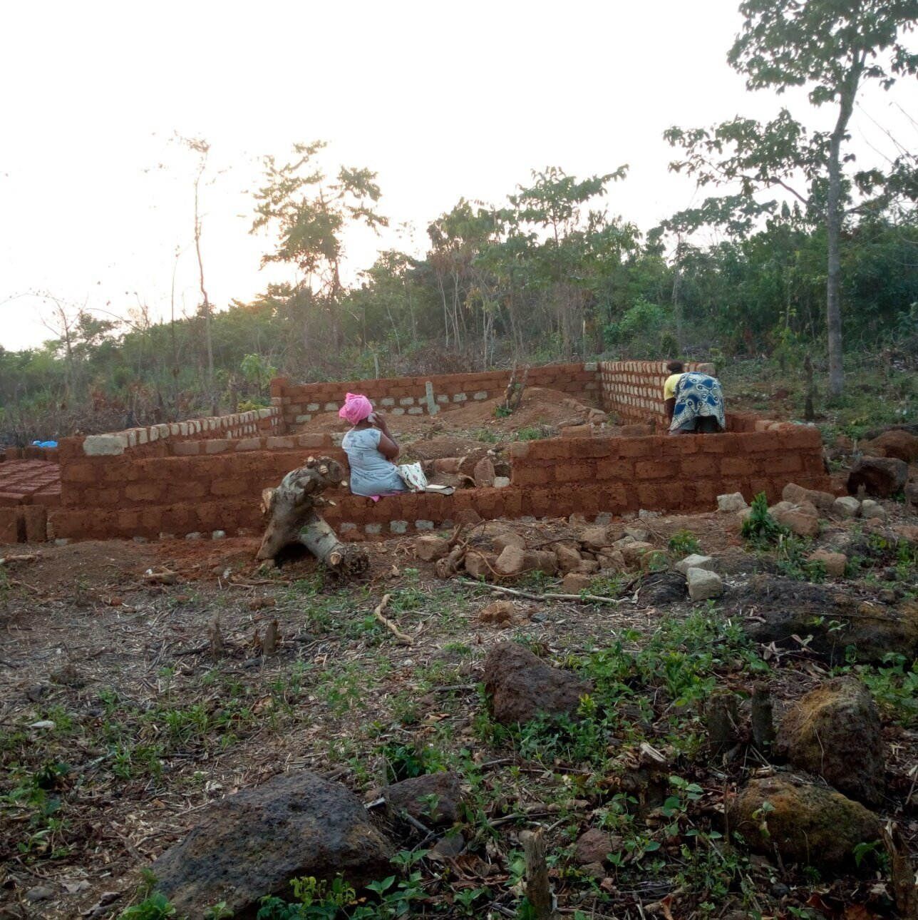 The start of Zion Hill Presbyterian Church's first building.  The pastor of the church is Emery Ghicarn. Emery is also a professor at African Bible College.  The building was completed in the late summer of 2019 and the congregation now fills the building each and every Lord's Day