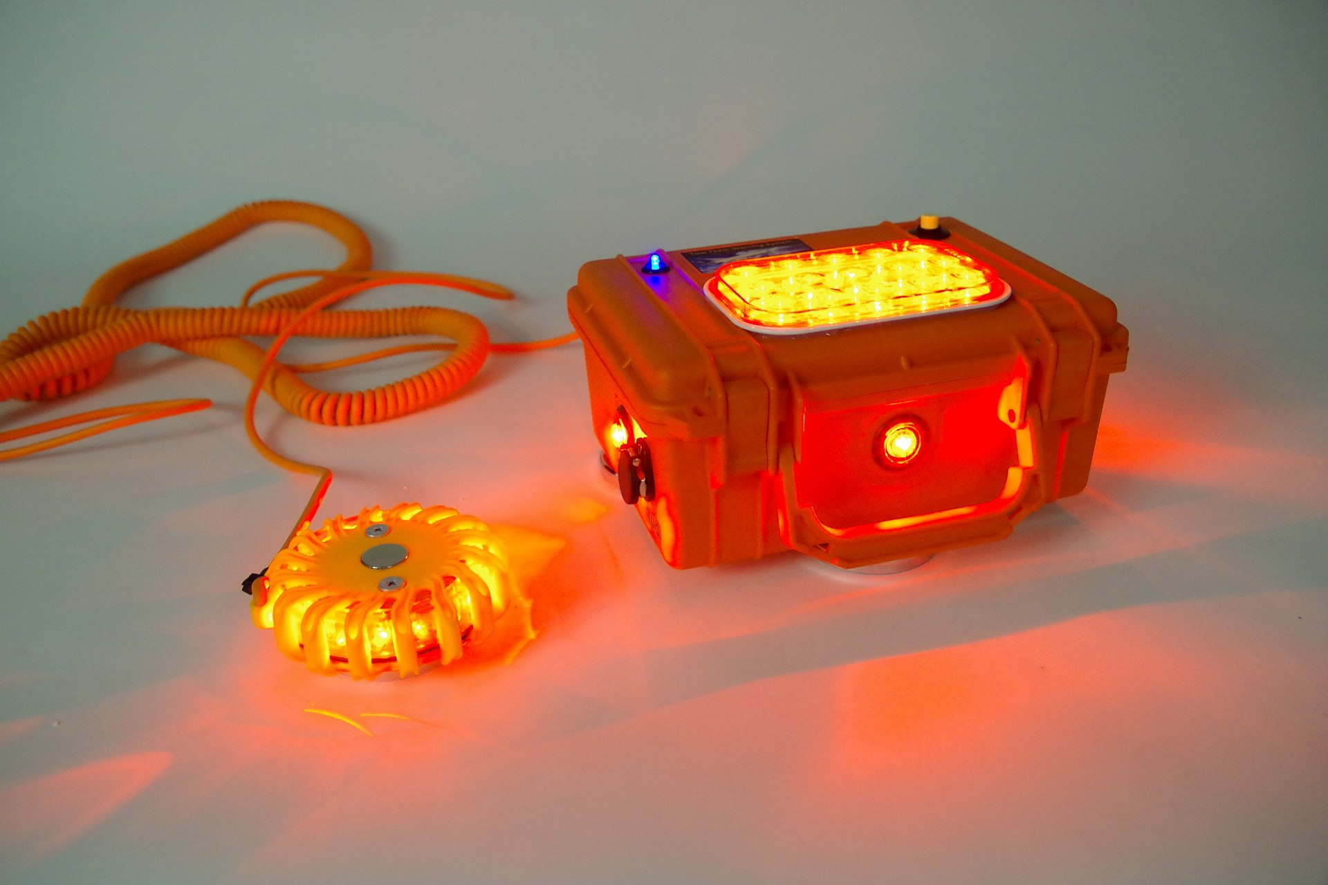 Additional lights and cords can be used for greater visibility.