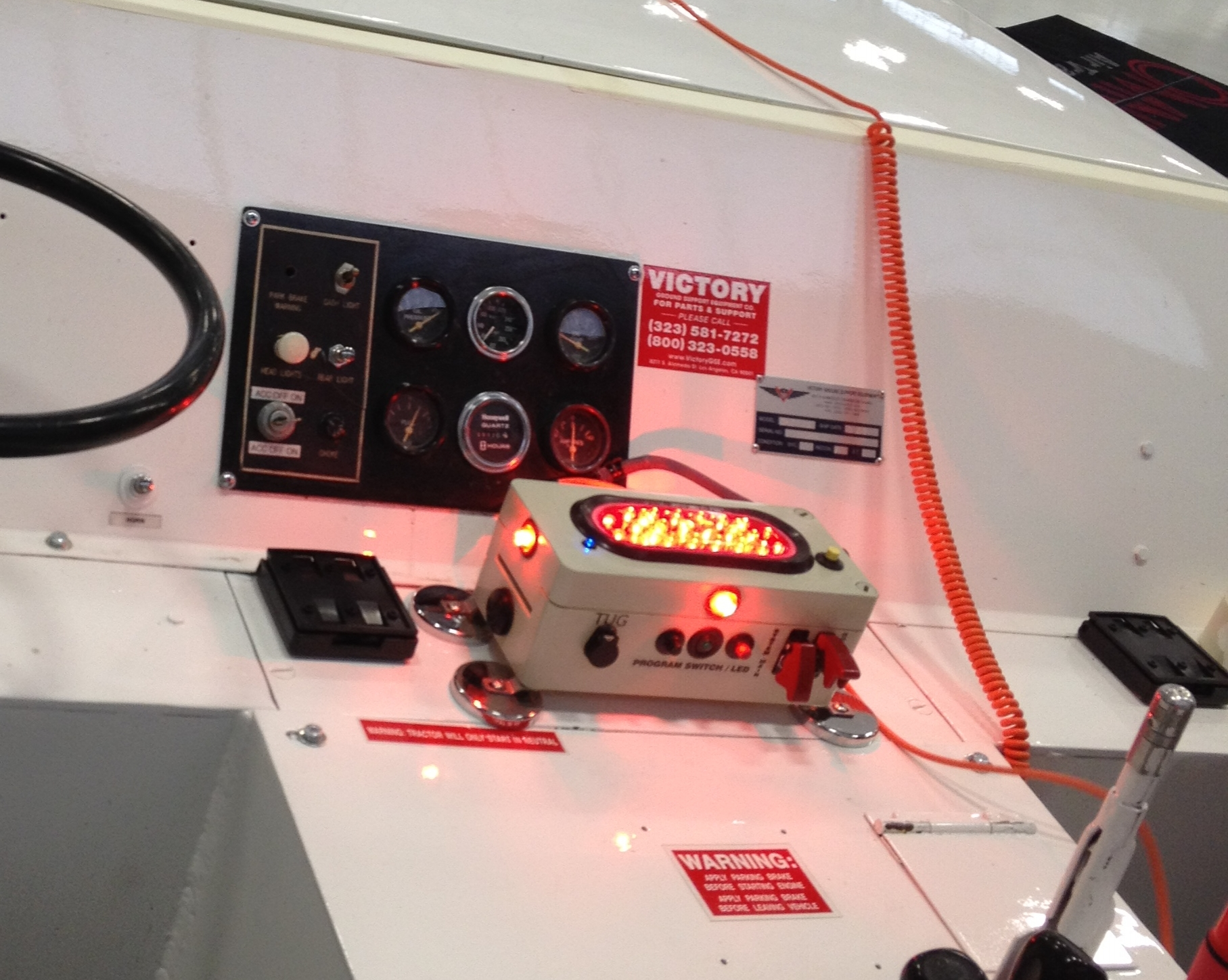 Each System can receive 12v or 28v power from the tug or towing device.
