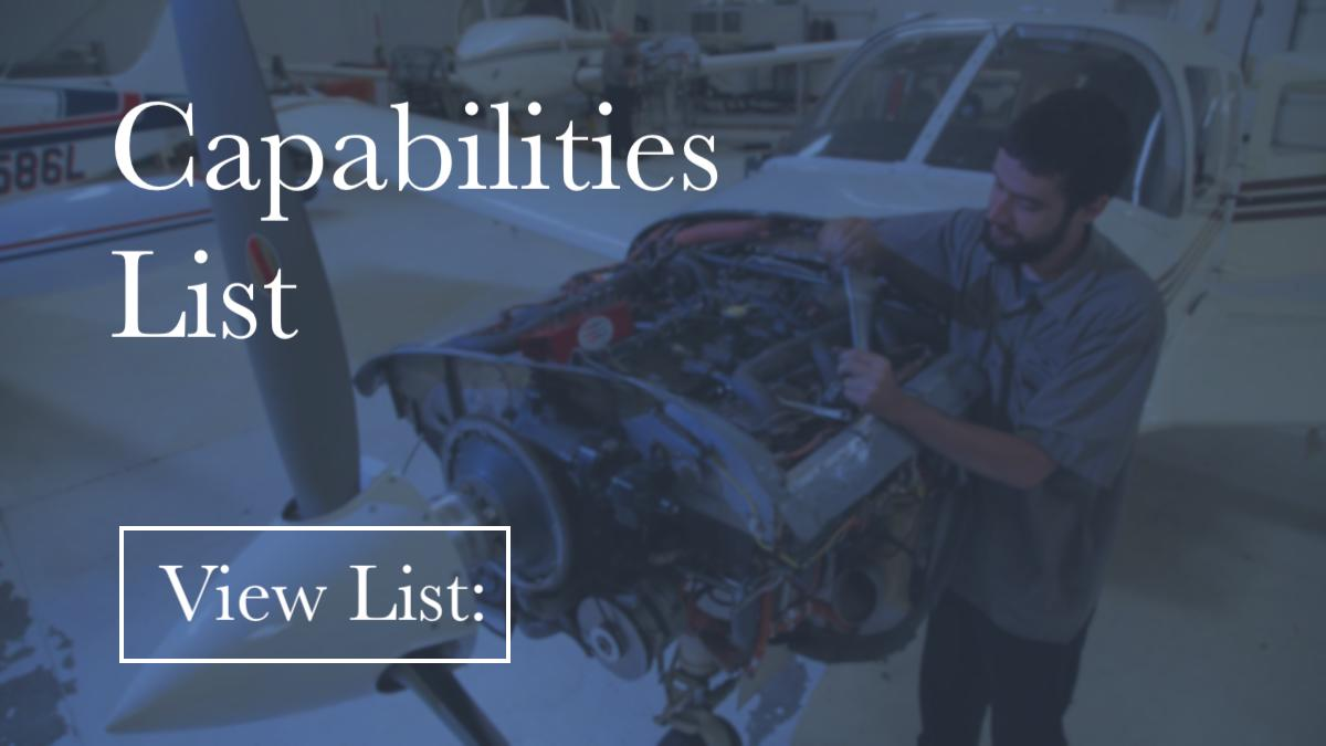 View Capabilities List: - Learn how we can help regarding maintenance, pitot-static systems, transponders, ADS-B, RVSM, avionics upgrades and much more. We can answer your questions and provide the maintenance your plane needs to keep you in the air!