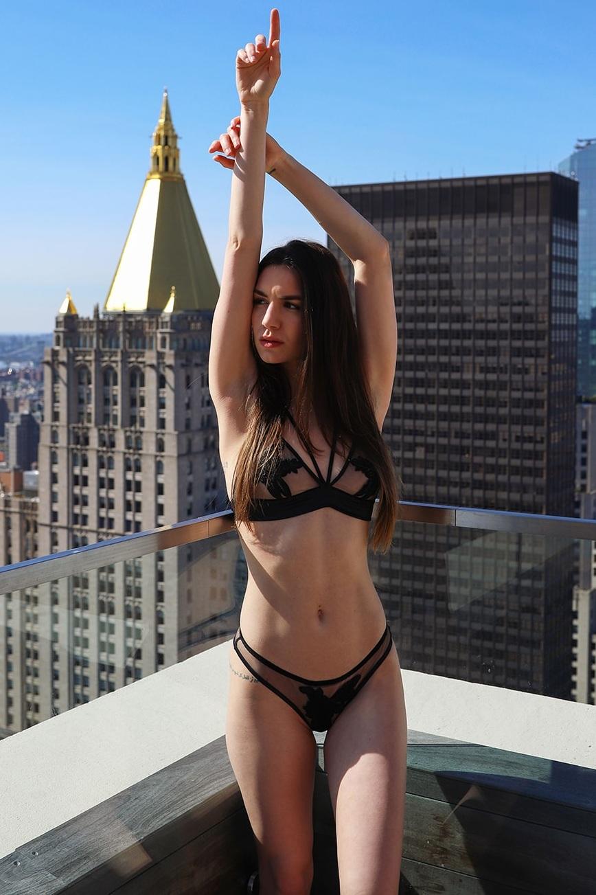 Gina modeling Empress Mimi Lingerie