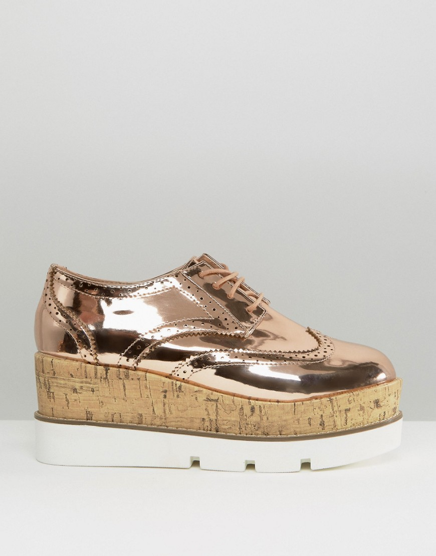 Olive Lace Up Flat Form $57