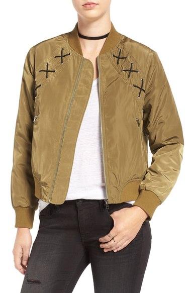Elodie Crosstitch Bomber Jacket $65