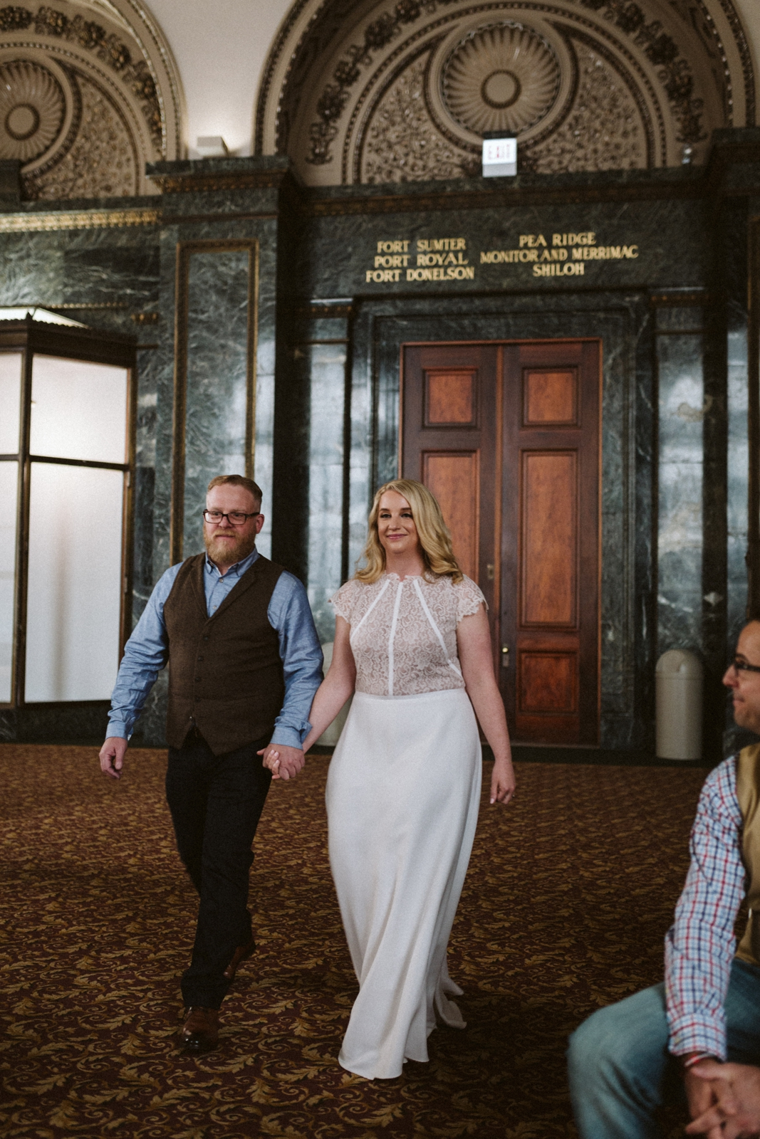 Chicago Cultural Center wedding   Chicago elopement   lisa kathan photography