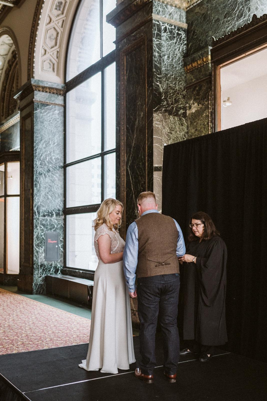 Chicago Cultural Center weddings   tiny weddings   lisa kathan photography