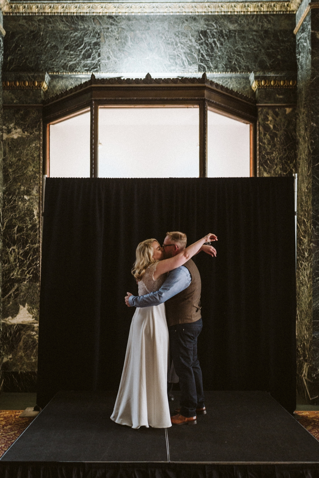Chicago Cultural Center wedding   tiny weddings   lisa kathan photography